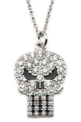Punisher Gems Skull Pendant