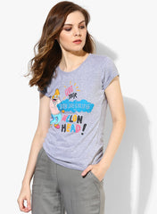 Simpsons Quit Your Day Dreaming Grey T-Shirt for Women