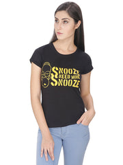 Simpsons Snooze Need More Snooze Black T-Shirt for Women