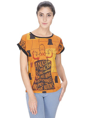 Simpsons A Nuclear Reactor Orange T-Shirt for Women