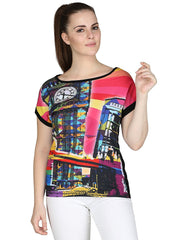 Muse The Big Ben Multi Color T-Shirt for Women