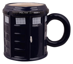 Doctor Who Police Station 3D Black Coffee Mug - 400 ml