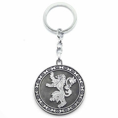 House Lanister Lion Roar Game of Thrones Silver Metal Keychain