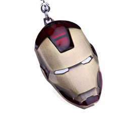 Iron Man Suit Helmet Multi Color Metal Keychain