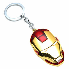 Iron Man Suit Helmet Gold Multi Color Metal Keychain