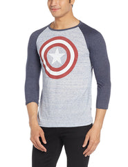 Captain America The First Avenger Navy Blue Raglan for Men