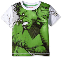 The Incredible Hulk in Anger White T-Shirt for Boys