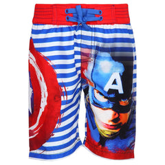 Captain America Face Sublimation Multi Color Shorts for Boys