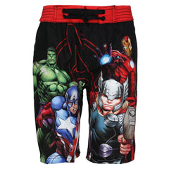 Avengers Comic Ready to Fight Sublimation Multi Color Shorts for Boys