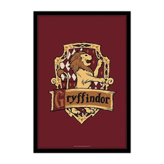 Harry Potter House of Gryfindor Set of 1 Wall Canvas - Multicolor