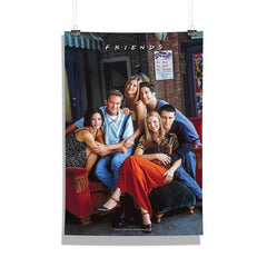 Friends Series on Couch Set of 1 Wall Canvas - Multicolor