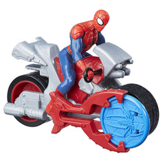 Spider-man Blast 'N Go Spiderman with Cycle Action Figure - Multi Color
