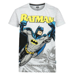 Comic Batman in Action Off White T-Shirt for Boys