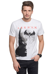 Batman Logo Arkham City White T-Shirt for Men