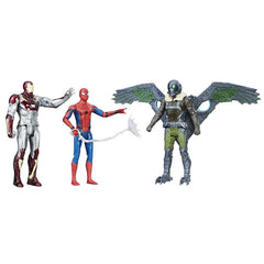 Spider-man Homecoming 6 Inch Figures Pack of 3 Action Figure - Multi Color