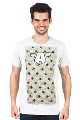 Captain America Letter A Logo White T-Shirt for Men