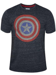 Captain America Shield Made from Stars Dark Blue T-Shirt for Men