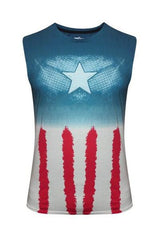 Civil War Captain America Armour Multicolor T-Shirt for Women
