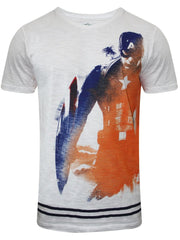 Captain America Ready to Fight White T-Shirt for Men
