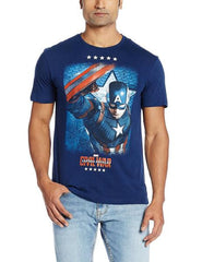 Civil War Captain America 5 Star Dark Blue T-Shirt for Men