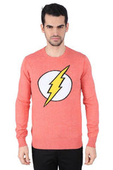 Flash Logo Red Sweater for Men