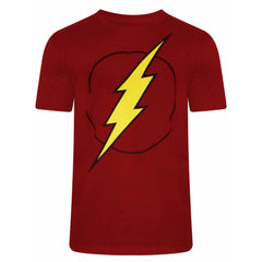 Flash Logo on Chest Dark Red T-Shirt for Men