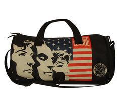 Comic Justice League 3 Super Heroes with Logo Duffel Bag - Black
