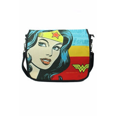 Wonder Woman Face with Logo Messenger Bag - Multicolor