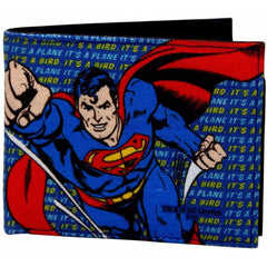 It's Superman Canvas and Leather Wallet for Men and Women - Multicolor