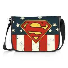 Superman with American Flag Messenger Bag - Multicolor