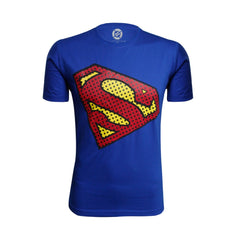 Superman Dot Logo Blue T-Shirt for Men