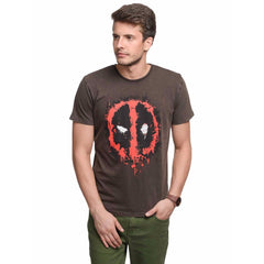 Deadpool Logo Brown T-Shirt for Men