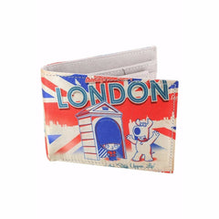Road To London Satin Wallet for Men and Women - Multicolor
