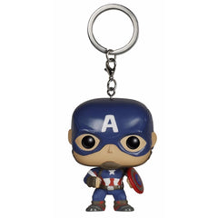 Captain America Funko Pop Multi color Vinyl Keychain