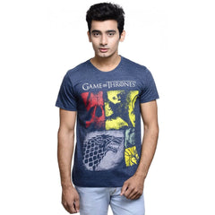 Game of Thrones House Crest Navy Blue T-Shirt for Men
