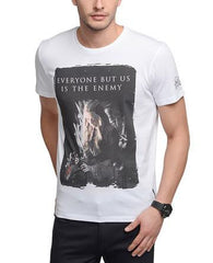 Game of Thrones Cersei Lannister Everyone But Us Is The Enemy White T-Shirt for Men