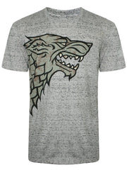 Game of Thrones Stark Wolf Logo Dark Grey T-Shirt for Men