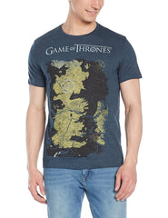 Game of Thrones Guide Map Denim Blue T-Shirt for Men