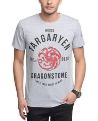 Game of Thrones Arryn Face Logo Grey T-Shirt for Men