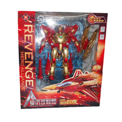 Powerful Iron Man Deformation Revenge Alliance Hero Action Figures - Red
