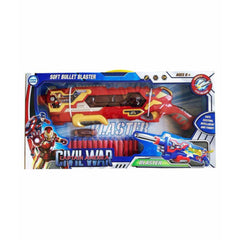 Iron Man Civil War Battery Operated with Soft Bullet and Light Sound Effect Blaster - Red
