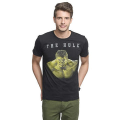 Hulk Staring Black T-Shirt for Men