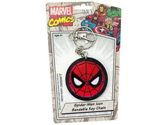Spiderman Icon Bendable Multi color Rubber Keychain