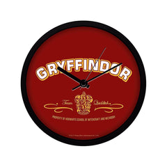Harry Potter Gryffindor Team Quidditch Plastic Multi Color Wall Clock