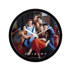 Friends Series on Couch Plastic Multi Color Wall Clock