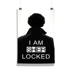 Sherlock I am Sher LOCKED Set of 1 Wall Canvas - Multicolor