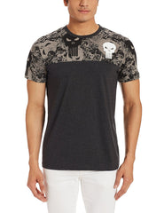 Punisher Logo Camouflage Black T-Shirt for Men