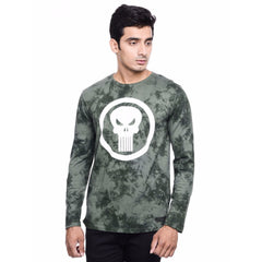 Punisher Logo Dark Green T-Shirt for Men
