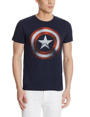 Captain America Shield Navy Blue T-Shirt for Men