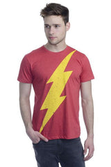 Flash Bolt Logo Red T-Shirt for Men